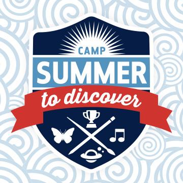 logotipo del campamento de verano